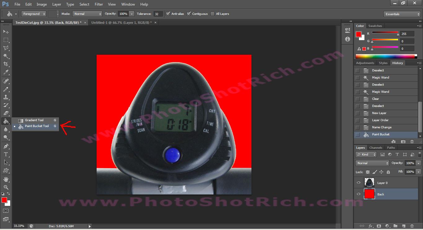 การ Di-Cut แบบง่ายๆด้วย Photoshop CS 6.0